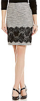 Antonio Melani Ellen Tweed & Lace Pencil Skirt