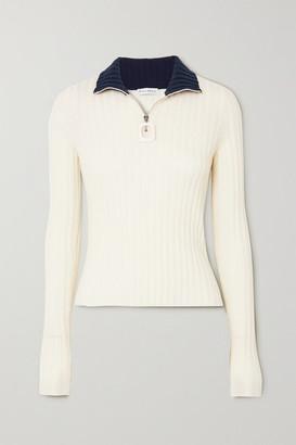 J.W.Anderson Infinity Two-tone Ribbed Merino Wool Sweater