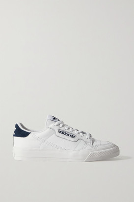 adidas Continental Vulc Suede-trimmed Leather Sneakers - White