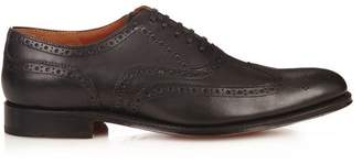 Grenson Dylan Leather Brogues - Mens - Black