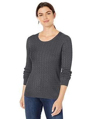 Amazon Essentials Women's Lightweight Cable Crewneck Sweater