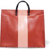 Clare Vivier Simple Striped Leather Tote - Brick