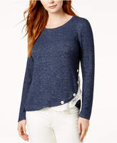 Maison Jules Lace-Trim & Button Top, Created for Macy's