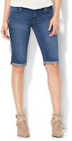 "New York & Co. Soho Jeans - 13"" Curve-Creator Short - Driven Blue Wash"