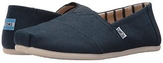 Toms Seasonal Classic Alpargata (Majolica Blue Heritage Canvas) Men's Slip on Shoes