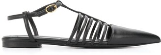 Stella McCartney Pointed-Toe Strappy Ballerina Shoes