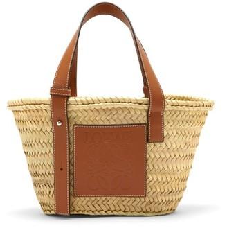 Loewe Raffia Small Basket Bag - Tan