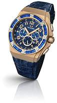 TW Steel Ceo Tech Unisex Quartz Watch with Blue Dial Chronograph Display and Blue Leather Strap CE4007