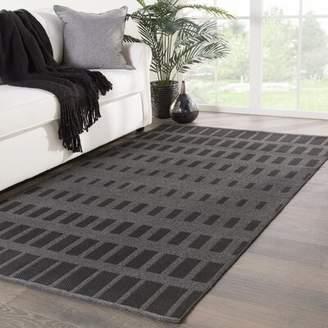 Jaipur Nikki Chu Living Vaise Geometric Handmade Flatweave Gray Indoor/Outdoor Area Rug Nikki Chu Rug Size: Rectangle 5' x 8'