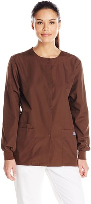 Cherokee Women's Snap Front Long Sleeve Warm-Up Jacket