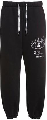 Natasha Zinko Logo Printed Jersey Sweatpants