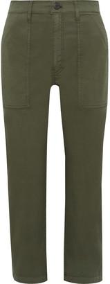 3x1 Sabine Cropped Cotton-blend Twill Straight-leg Pants