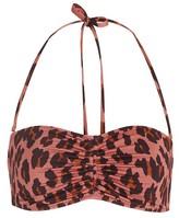 Stella McCartney Leopard bikini top