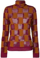 Marni patchwork roll neck top