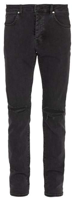 Neuw Iggy Ripped Knee Skinny Jeans - Mens - Black
