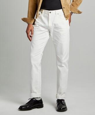 Todd Snyder Slim Fit 5-Pocket Chino In White