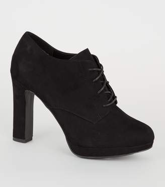 New Look Suedette Lace Up Platform Shoe Boots