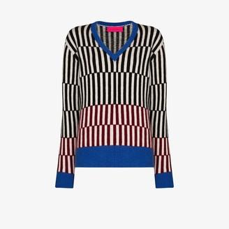 The Elder Statesman Fusion V-Neck Cashmere Sweater