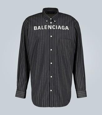 Balenciaga Long-sleeved logo shirt