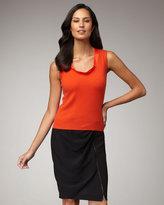 Magaschoni Draped Zip Skirt