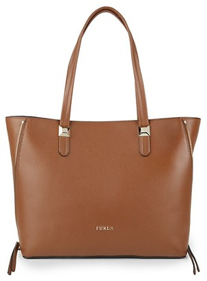 Furla Zip-Gusset Leather Tote