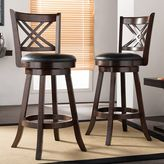 Baxton Studio Timothy Swivel Bar Stool 2-piece Set