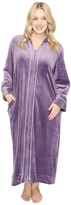 Carole Hochman Plus Size Velour Zip Robe
