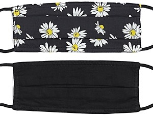 Echo Daisy & Solid Face Masks, Set of 2