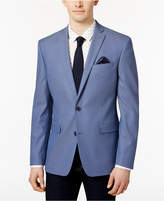 Bar III Men's Slim-Fit Blue Textured Micro-Grid Sport Coat, Only at Macy's