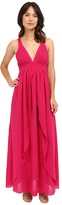 Adelyn Rae Woven Maxi Dress w/ Open Back