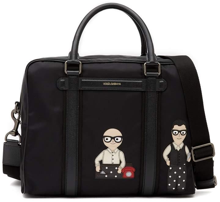 Dolce & Gabbana Patch Nylon Messenger Bag