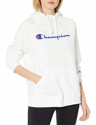 Champion Women's Powerblend Fleece Hoodie Script Logo