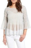 Hinge Women's Sheer Smocked Top