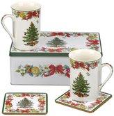 Spode Christmas Tree 2017 6-Piece Tin-Boxed Mug & Coaster Set