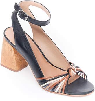 Bernardo Nadia Knotted Block-Heel Sandals