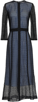 Victoria Beckham Layered Lace Midi Dress
