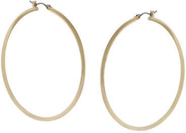 Lauren Ralph Lauren Thin Gold-Tone Circle Hoop Earrings