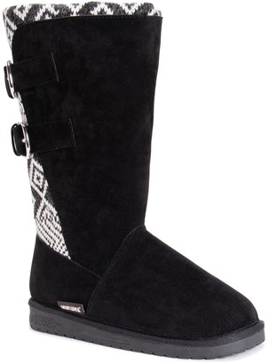 Muk Luks Jean Water-Resistant Faux Fur Buckle Boot