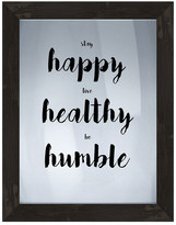 "PTM Images Happy Healthy Humble Framed Print - 16.75"" x 20.75"""
