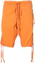 Greg Lauren - panelled shorts - men - Cotton - 4