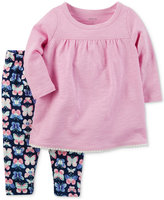 Carter's 2-Pc. Babydoll Top & Butterfly-Print Leggings Set, Baby Girls (0-24 months)