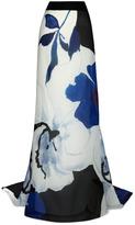 Carolina Herrera Preorder Floral Printed Organza Skirt