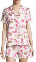 BedHead Cherry Blossom Printed Shorty Pajama Set