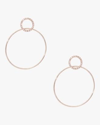Sophie Ratner Pave Single Circle Hinge Earrings