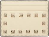 Valentino Ivory Rockstud Card Holder