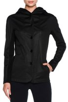 Giorgio Armani Cashmere-Lined Hooded Coat, Black