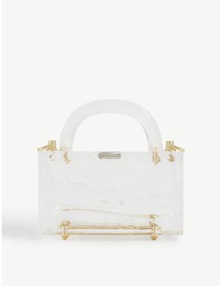 L'Afshar Leon crushed-ice acrylic mini top handle bag