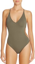 Vince Camuto Stud Embellished One Piece Swimsuit