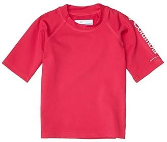 Columbia Kids Sandy Shorestm Short Sleeve Sunguard (Toddler) (Cactus Pink) Kid's Swimwear