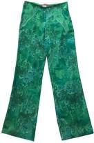 Ungaro Green Trousers for Women